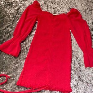 Off Shoulder Red Dress